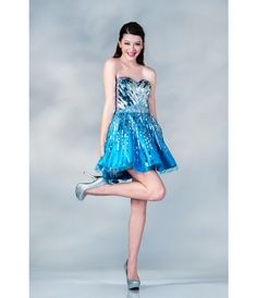 Retro Turquoise Prom Dresses