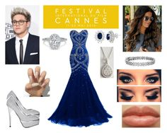 """Cannes Film Festival with Niall"" by love-smile-laugh-1d ❤ liked on Polyvore featuring Allurez, Armadani and Blue Nile"
