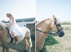 bride on horseback. nik & chris | an eco-friendly, handmade coastal welsh wedding » Home