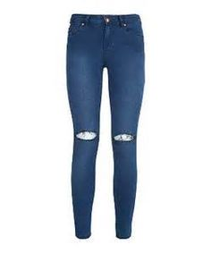 blue ripped jeans x