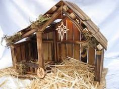 Resultado de imagem para nativity stables Nativity Stable, Christmas Manger, Christmas Projects, Christmas Ideas, Stables, Cribs, Crafts For Kids, Christmas Decorations, House Styles