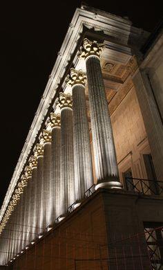 Palais de Justice, Lyon - Conception lumière Direction Eclairage Public - Photo Vincent Laganier