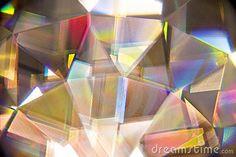 light refraction through crystal