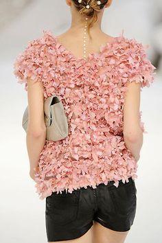 pink girlie floral top