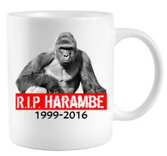 RIP Harambe Gorilla Cincinnati Zoo Coffee Mug Show your support towards this…