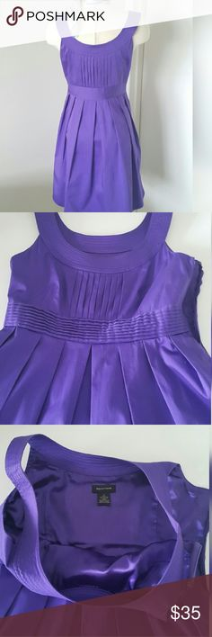 Beautiful Purple Sleeveless Spense Dress🍸🍸🍷🍾💜 Beautiful Purple Spense Dress🍸🍸🍷🍾💜. Throw on a sweater or not and you're ready for dinner or a cocktail party in this purple vision. Completely lined. Zipper down one side and  Pockets on. side. Cotton/spandex. Worn one time!  Excellent condition. Length 37, bust 36, waist 31. You will never find a prettier shade of purple. Complimentary to everyone. Please look at photos and descriptions before you purchase. This item is not returnable…