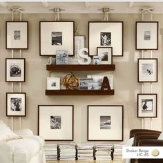 Hanging pictures, neat idea.