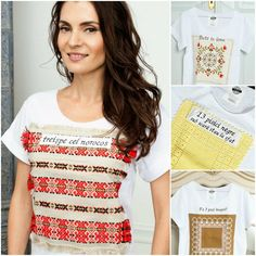 Mândră chic: MÂNDRE CHIC Romanian t-shirt, Romanian embroidery  My lucky 13. 13 cel norocos V for Vintage - Laura Călin Chic, My Style, Romania, Folk Art, Mario, How To Make, Designers, Vintage, Tops