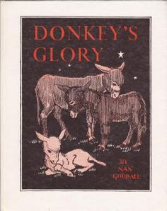 Donkey's Glory: Nan Goodall book cover illustration