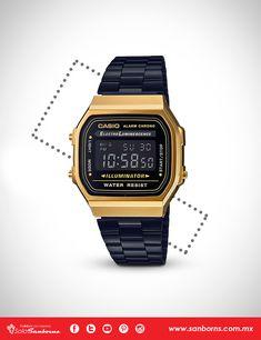 fc7f91e1f97f Tenemos el reloj vintage que estás buscando. Encuentra este modelo que  combina negro y dorado
