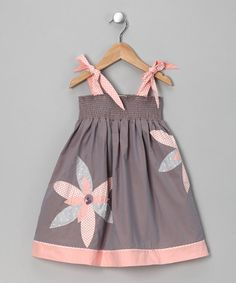 Gray & Blush Leah #Dress from Sophie Catalou on #zulily
