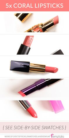 5 Shades of Coral Lipsticks for Spring