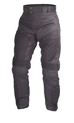 S-Short WICKED STOCK Mens Motorcycle Black Leather Pants with CE Rated 4 Piece Armor PT55