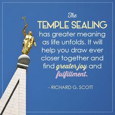 Temple sealing..