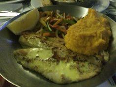 Tilapia, butternut mash & grilled veggies - Ocean Basket