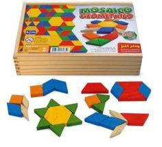 Mosaico Geométrico (100 peças) - Jott Play