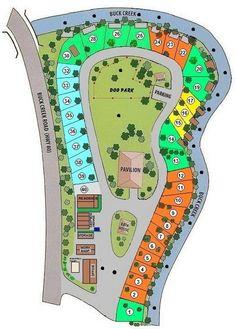 Mountain Stream RV Park Site Map