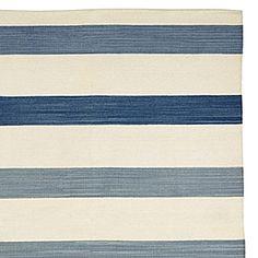 Playa Stripe Dhurrie – Blue #serenaandlily- great rug for living room - including color