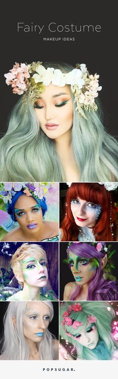 """25 Ethereal Makeup Transformations to DIY Your Halloween """"Fairy"""" Tale"""
