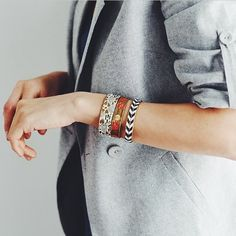 Regram from Of A Kind.. Stack them up! #chevron #flora #emilie | Iconosquare