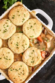 Vegetable Pot Pie with Vegan Biscuits - ilovevegan.com