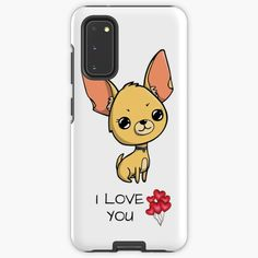 """""""Chihuahua I love you"""" Case & Skin for Samsung Galaxy by jakezbontar   Redbubble Samsung Cases, Samsung Galaxy, Phone Cases, I Love You, My Love, Chihuahua, Te Amo, Je T'aime, Chihuahua Dogs"""