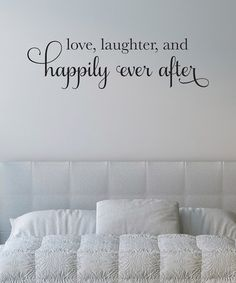 Black 'Happily Ever After' Wall Decal by Wallquotes.com by Belvedere Designs on #zulily