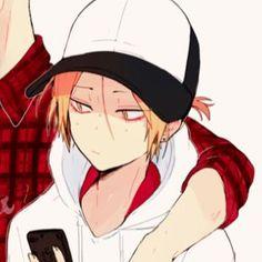 Haikyuu Characters, Anime Characters, Cute Anime Coupes, Dark Anime Guys, Fanart, Kenma Kozume, Matching Profile Pictures, Funny Anime Pics, Anime Love Couple