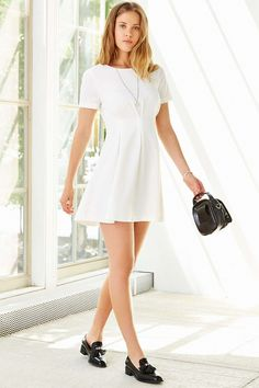 Lucca Couture Pleated Short-Sleeve Mini Dress - Urban Outfitters