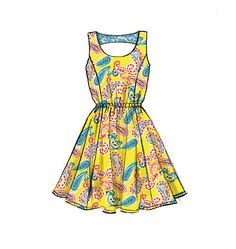 M6952- Pullover dresses (fitted through bust) have side front and back seams, narrow hem, self-lined, applied back yoke. #mccalls #nowtrending #dress
