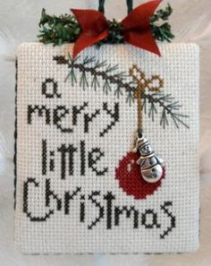 Christmas cross stitch.