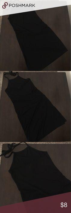 Forever 21 Black Halter Side Split Dress F21 black halter dress with side split. Forever 21 Dresses