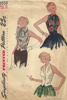 Simplicity 3559 Vintage 50s Sewing Pattern by studioGpatterns, $22.50