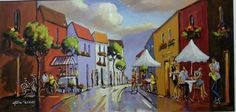 Street And Cafe Scene - Gericke Anton Upcoming Artists, South African Artists, Pretoria, Anton, Impressionism, Art Gallery, My Arts, Scene, Passion