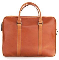 La Portegna Leather Briefcase Fat Carter Natural