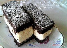 Cold Desserts, No Bake Desserts, Dessert Recipes, Hungarian Desserts, Hungarian Recipes, Czech Recipes, Cake Bars, Cakes And More, How To Make Cake