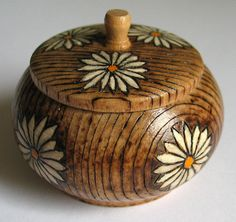 Pyrography Trinket Pot