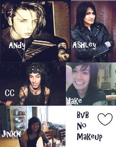 With or without makeup-black veil brides will be black veil brides always and forever and they have eternal amazingness that cannot be topped by anything except maybe the hilarious fact that if u look up god holding a koala on google images pictures of tony perry and vic fuentes holding koalas show up XD
