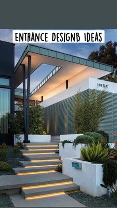Facade Architecture, Amazing Architecture, Minimalist Architecture, Cool House Designs, Modern House Design, Modernisme, Entrance Design, Facade Design, Dream House Exterior