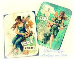AlteredPages Artsociates: Sweet Vintage Fairies ATC's