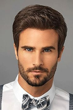 Men's Wigs - Style Men's Wig by HairUWear can be styled spiked up or slicked back. This short haircut is modern and easy to wear and can be styled with heat. Wig Styles, Beard Styles, Curly Hair Styles, Natural Hair Styles, Best Short Haircuts, Popular Haircuts, Haircuts For Men, Men's Haircuts, Haircut Men