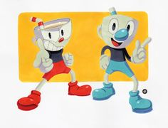 Image result for cuphead and mugman