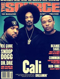 Ice Cube, Snoop Dogg, and Dr. Dre.