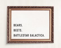 the office quotes | bears beets battlestar galactica | printable art | digital…