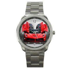 My favorite sports car Ferrari Laferrar watch (custom made Sport Metal Watch)