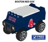 Boston Red Socks  Buckle up, you in for a fun ride! Zip in and out of the crowd with this amazing remote control cooler. The RC ice chest is an amazing combination of fun and function featuring a mold construction body.  Ultimate coolers for tailgating, camping and backyard fun! Let the fun begin with your remote control, C3 Rover Cooler. Be the envy of your friends as you deliver cold beverages and hot music.  Approximate capacity: 30 cans Working headlights Speakers with auxiliary input 2…