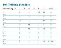 10K Training Schedule « FrontRunner