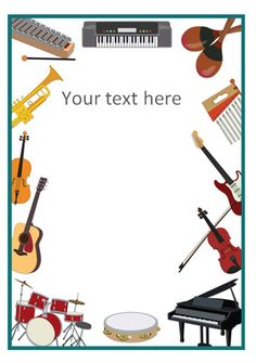 FREE Musical Instrument Notepaper