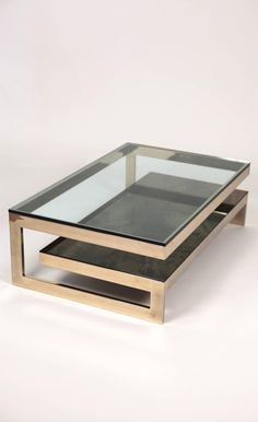 Muebles View this item and discover similar coffee and cocktail tables for sale at - Guy Lefevre coffe table. Coffee Table Design, Coffe Table, Contemporary Coffee Table, Modern Coffee Tables, Contemporary Decor, Contemporary Cottage, Cool Coffee Tables, Tea Tables, Glass Tables