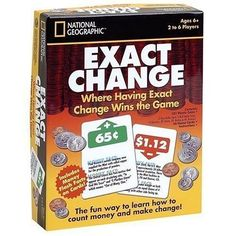 $20.50  National Geographic Exact Change Game by Warren Industries , NIB